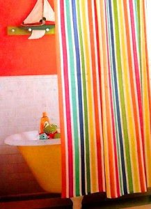 Circo MULTICOLOR STRIPE Fabric Shower Curtain Target