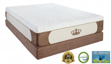13 Queen Coolbreeze Gel Medium Soft Cloud High Quality 5lb Memory Foam Mattress