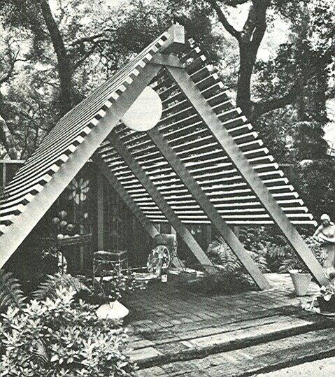 Garden Patio Design Build Book 1969 Vintage Mid Century Modern on Mid Century Patio Design  id=21526