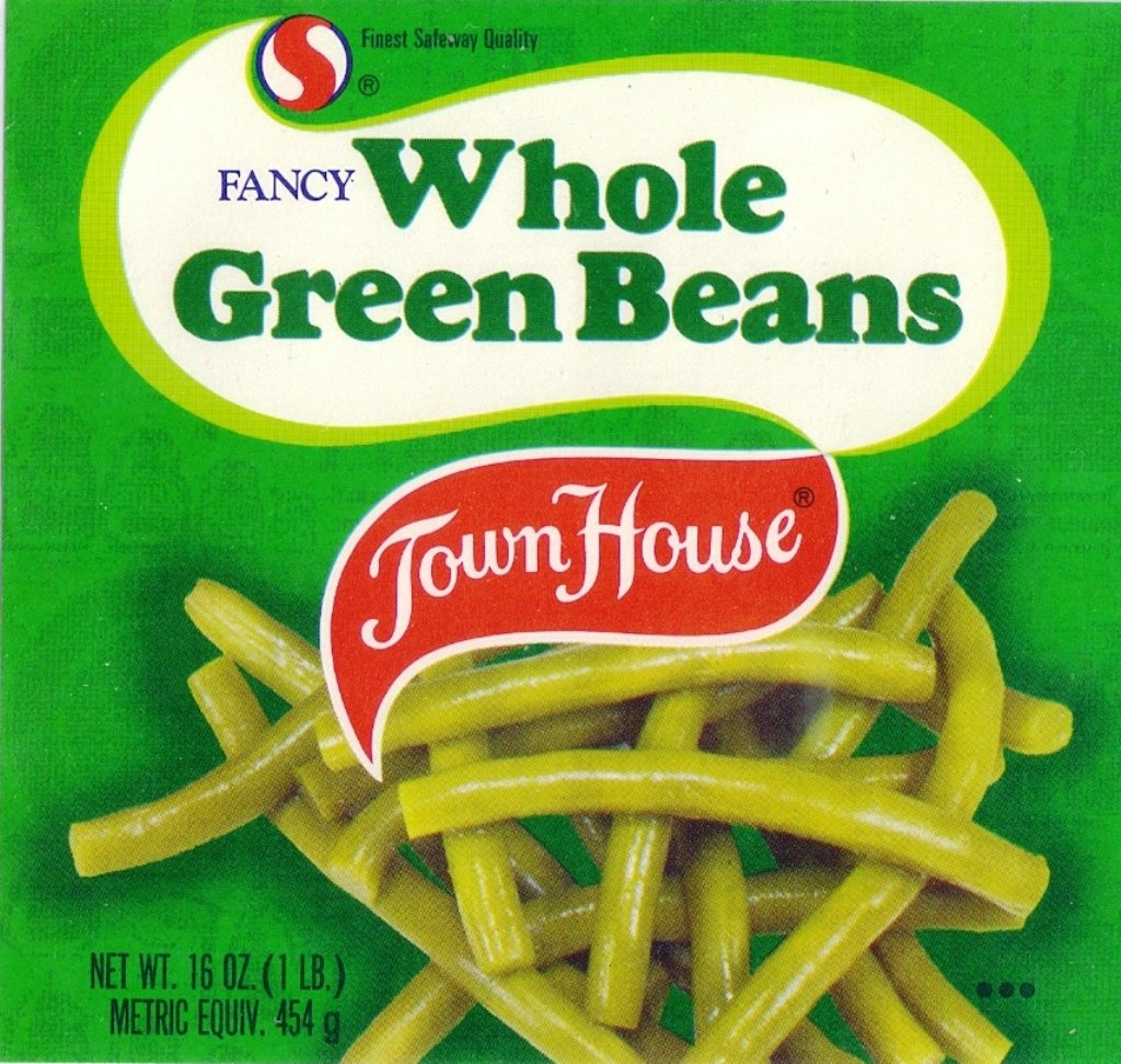 Town House Green Beans Safeway Oakland Ca Vintage