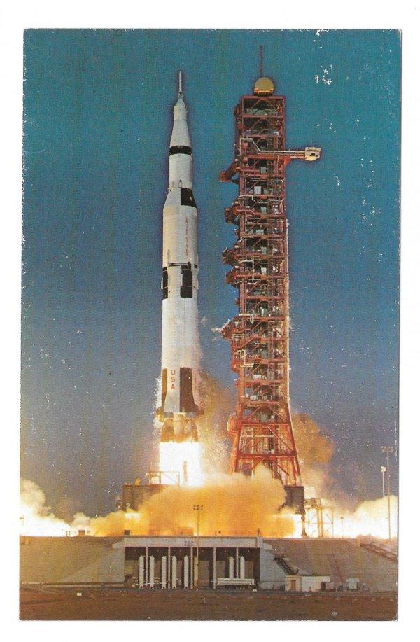 Apollo Saturn V Launch Lift off NASA John F Kennedy Space ...