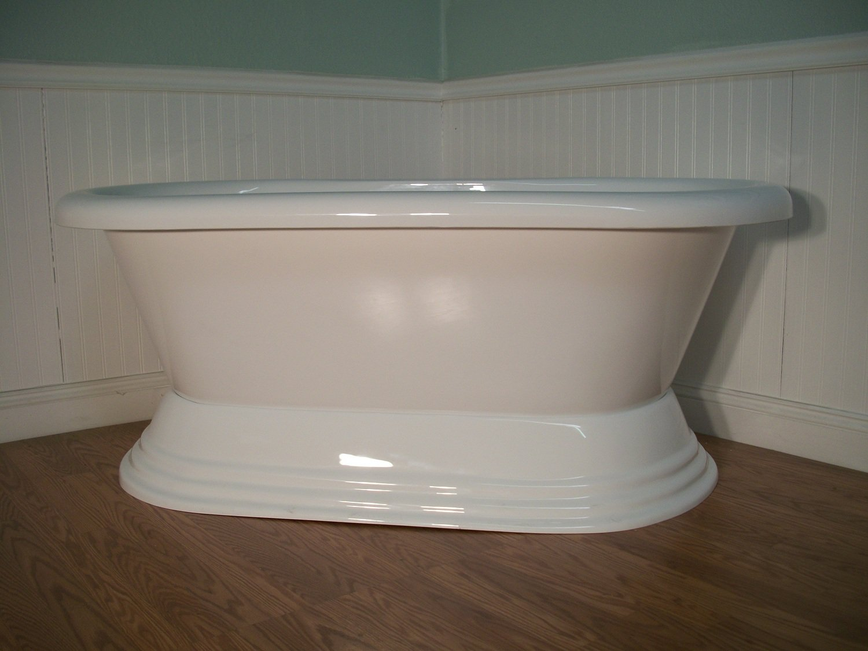 60 FREE STANDING PEDESTAL BATHTUB Amp DRAINSET Clawfoot