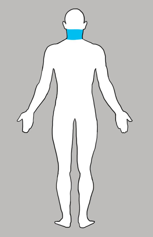2. Шея боль, люди, тело