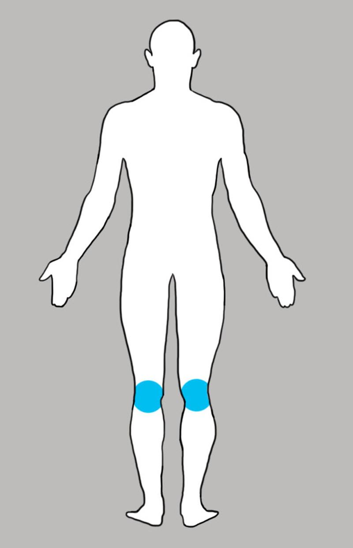 9. Колени боль, люди, тело
