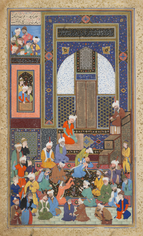 Incident in a Mosque by Shaykh Zada; Harvard Art Museums/Arthur M. Sackler Museum