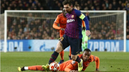 Messi Leads Barca To 5-1 Win Over Lyon In Champions League