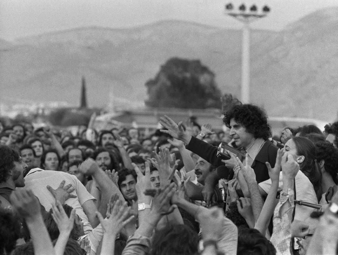 When he returned from exile, Mikis Theodorakis was greeted like a hero at the Athens airport.