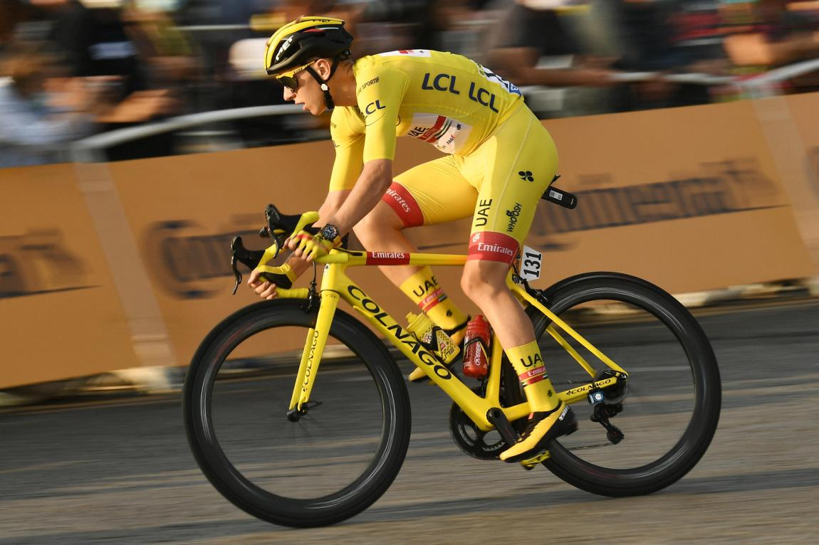 Tadej Pogacar with the yellow jersey, during the 21st and last stage of the 107th edition of the Tour de France, on September 20, 2020.