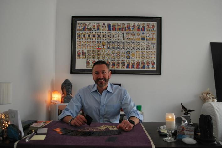 Stefan Mickael, a fortune teller and medium in the northern Paris suburb of Seine-Saint-Denis, puts the rising trend for esoterism down to a growing open-mindedness in France.