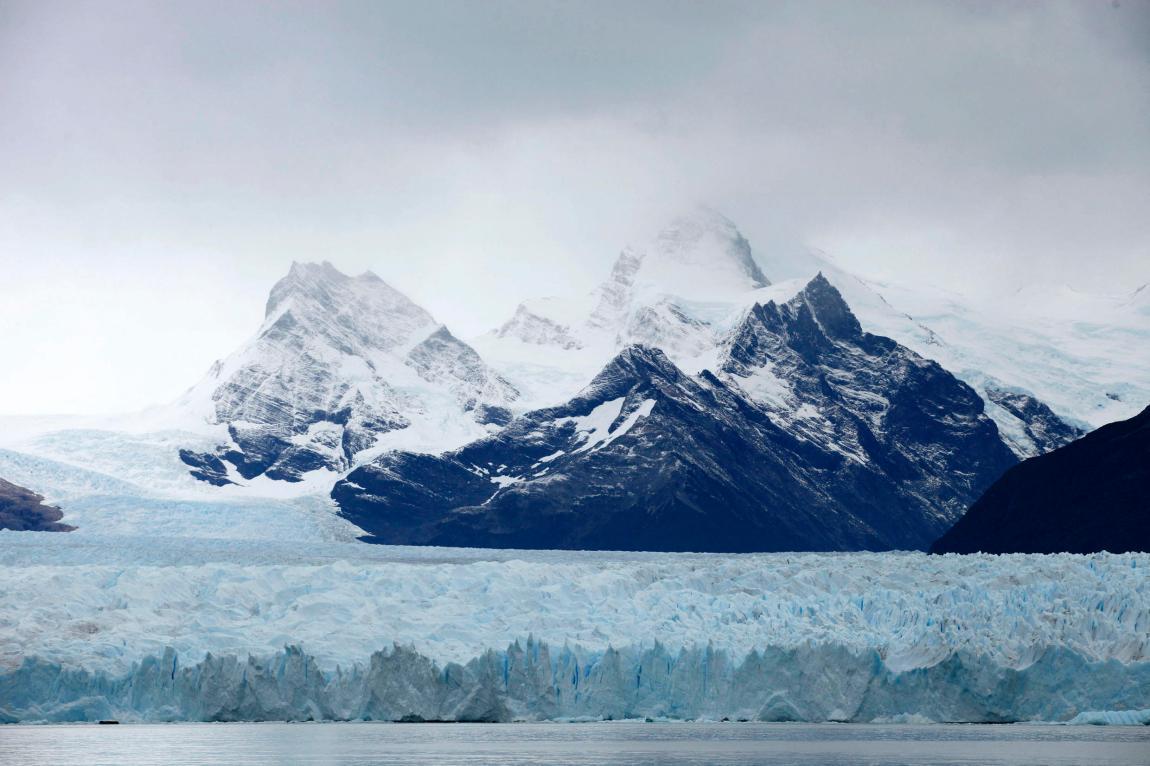 View of the Perito Moreno glacier, in Los Glaciares National Park, near El Calafate, in the Argentine province of Santa Cruz, on March 11, 2018.