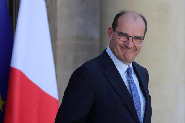 Jean Castex at the Élysée presidential palace on July 7, 2020