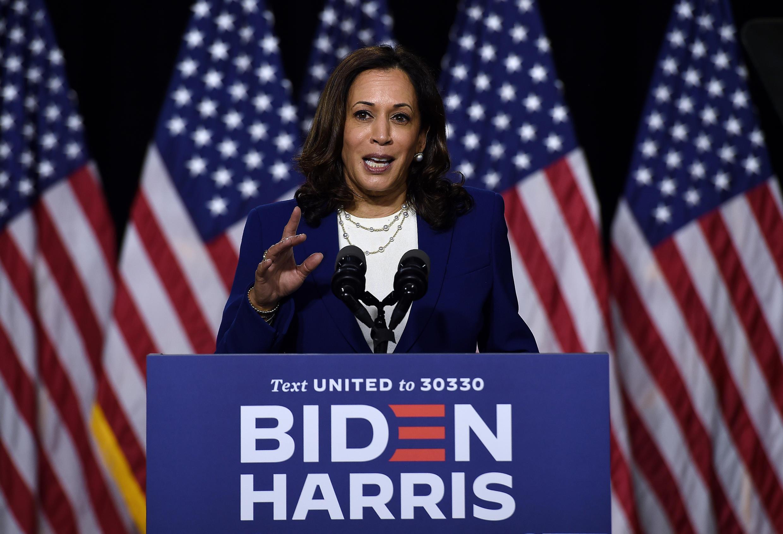 La candidata a la vicepresidencia por el partido demócrata, Kamala Harris, en Wilmington, Estados Unidos, el 12 de agosto de 2020.