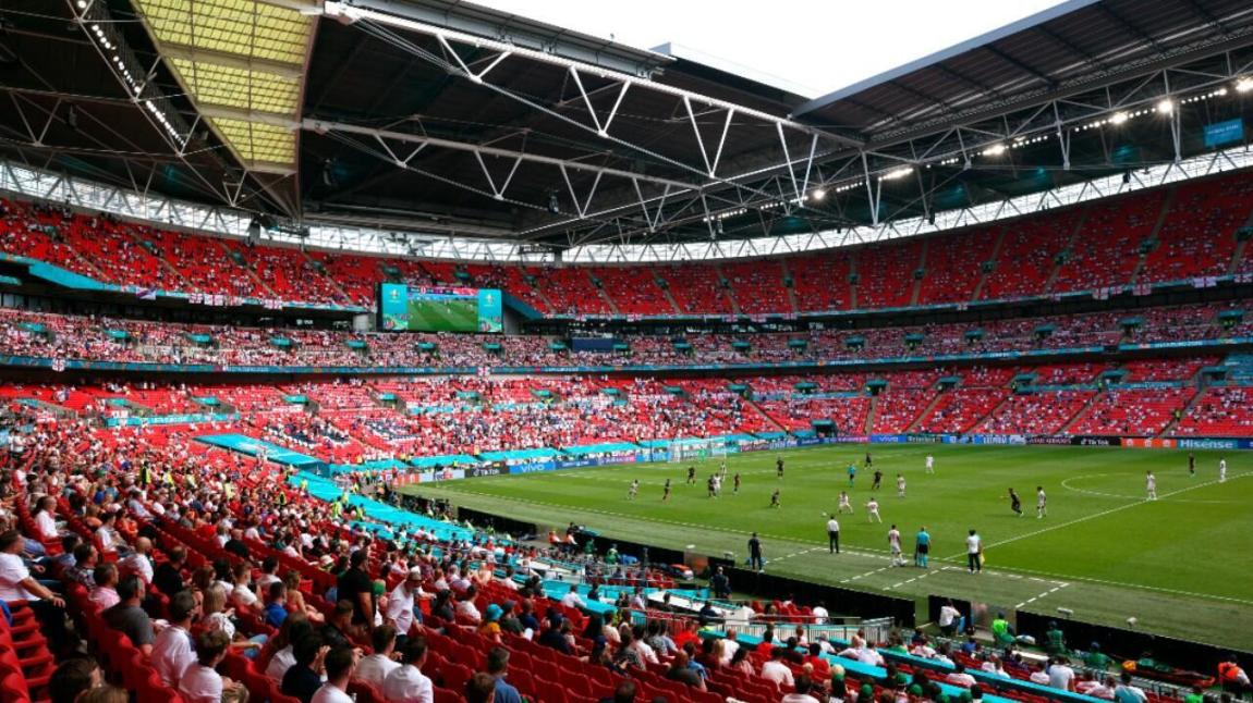 General view of Wembley Stadium in the match between England and Croatia.