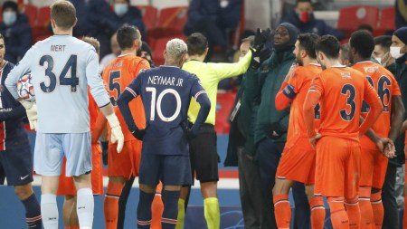 PSG, Basaksehir Players Walk Off Over Alleged Racism By Match Official