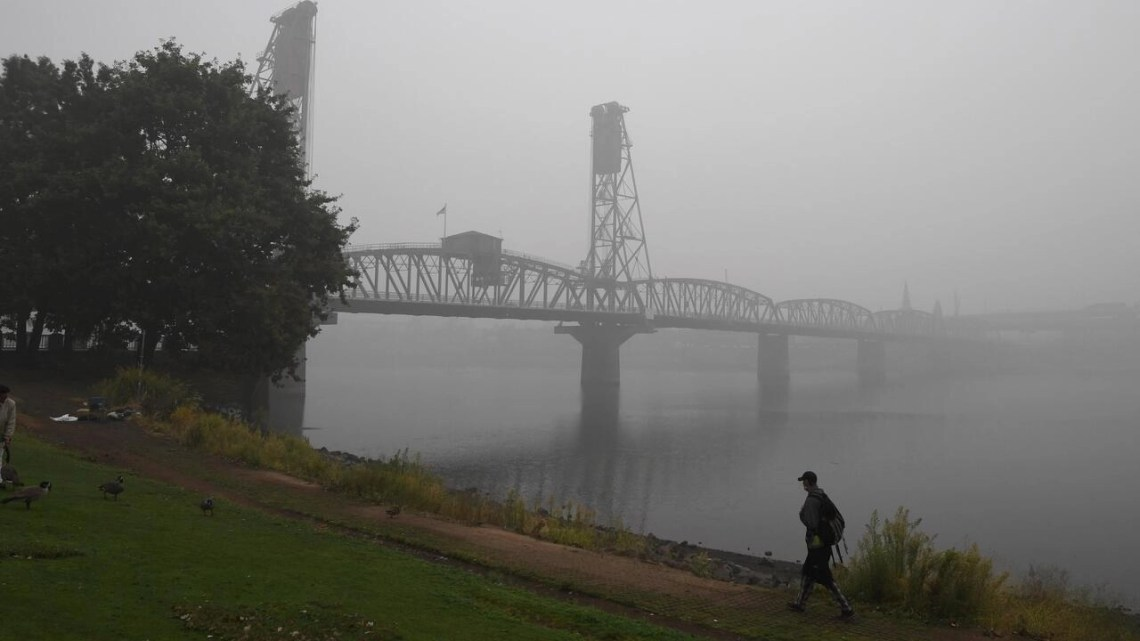 The air quality in Portland as fires burn across the state of Oregon is dismal