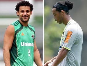 Montagem Fred e Ronaldinho (Foto: Reprodução)