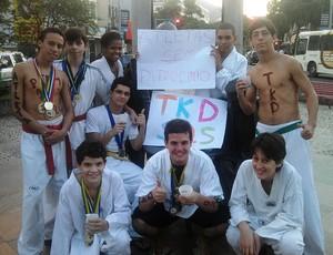 taekwondo da Associação Atlética Vila Isabel (Foto: Adriano Albuquerque/GLOBOESPORTE.COM)