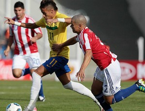 neymar brasil dario veron paraguai copa américa (Foto: Agência Reuters)