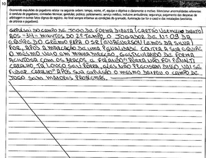 Súmula - Fluminense x Grêmio - Expulsão do jogador Evaeverson Lemos da Silva (Foto: Reprodução)