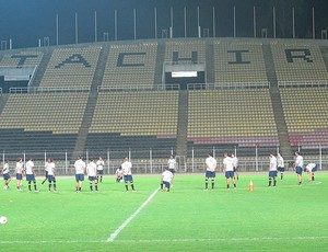 Corinthians treino Libertadores (Foto: Carlos Augusto Ferrari / Globoesporte.com)
