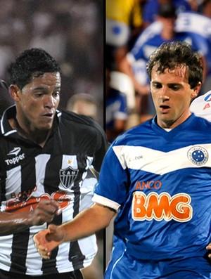 montagem jogadores Atlético-MG Cruzeiro (Foto: Editoria de Arte / GLOBOESPORTE.COM)