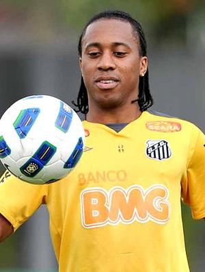 Arouca no treino do Santos (Foto: Ricardo Saibun / Site Oficial do Santos)