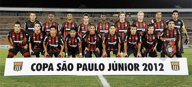 Time júnior do Atlético-PR na Copa São Paulo (Foto: Divulgação/Site oficial do Atlético-PR)