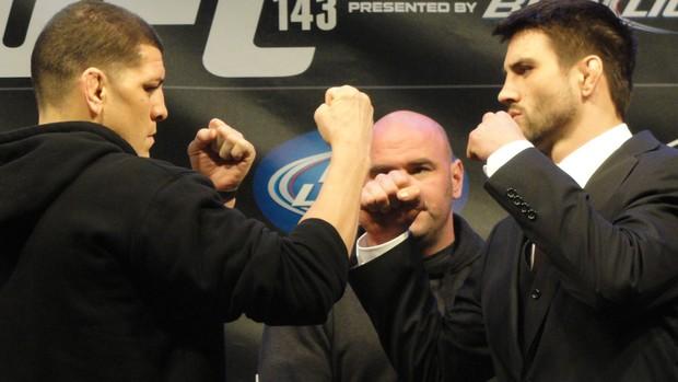 UFC - Nick Diaz x Carlos Condit (Foto: Marcelo Russio/Globoesporte.com)