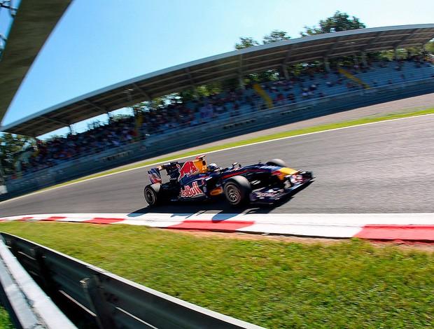 Vettel no treino da F1 em Monza