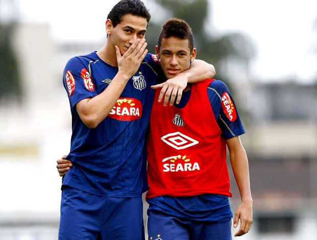 paulo henrique ganso neymar santos treino (Foto: Ricardo Saibun / Agência Estado)