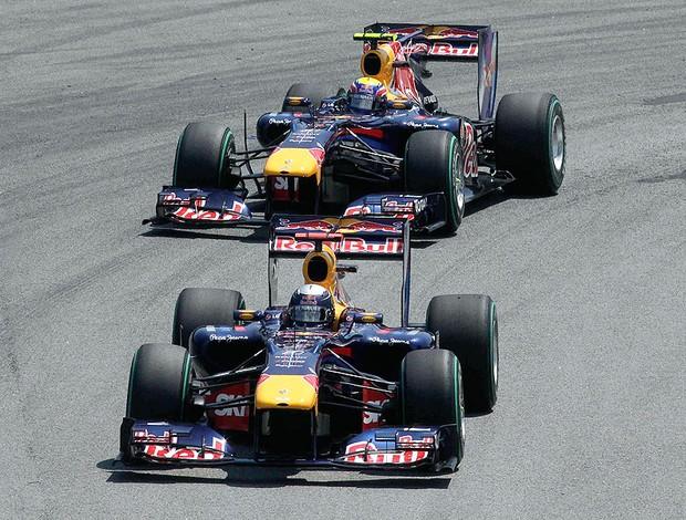 Vettel e Webber fazem dobradinha no GP Brasil
