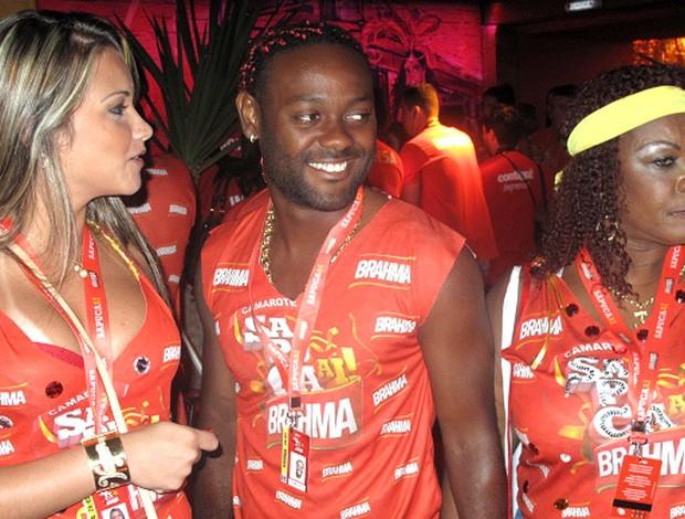 Vagner Love no Carnaval do Rio de Janeiro (Foto: Alexandre Alliatti / Globoesporte.com)