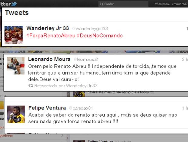 renato abreu twitter flamengo (Foto: Reprodução/Twitter)