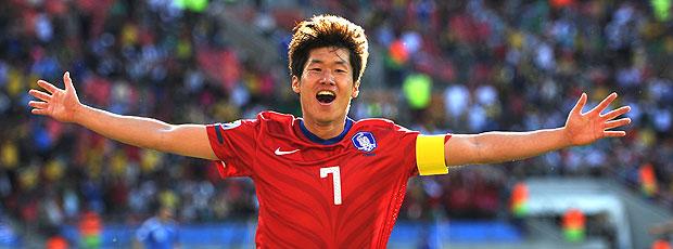 Park Ji-Sung comemoração Coreia do Sul