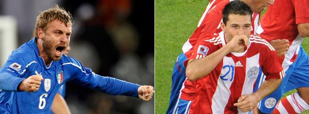 Itália e Paraguai ficam iguais em 1 a 1 (AFP)