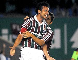 Fred comemoração Fluminense jogo Grêmio Prudente