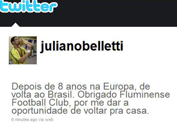 BELLETTI, no TWITTER