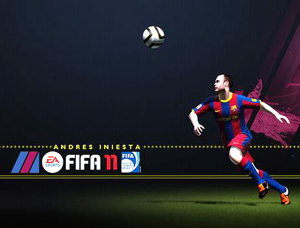 Iniesta no jogo FIFA 2011