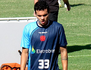 Ramon no treino do Vasco