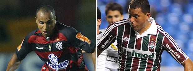 montagem Deivid Flamengo Washington Fluminense