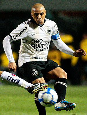 Roberto Carlos na partida do Corinthians