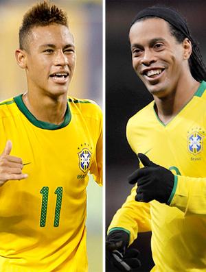 MONTAGEM - Neymar e Ronaldinho Gaúcho