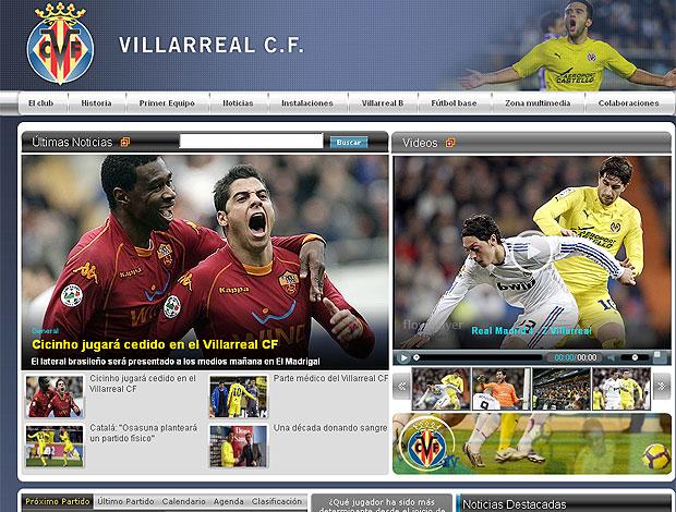 Cicinho site Villarreal reprodução