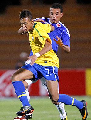 Neymar na partida da seleção sub 20 contra a Colômbia