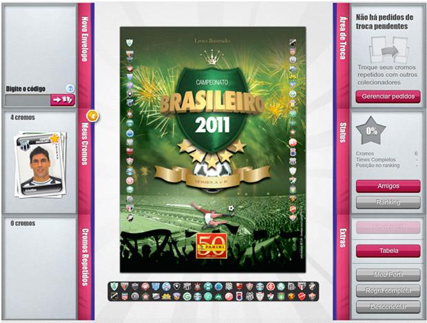 Album virtual Brasileirão 2011 SporTV 2 (Foto: Divulgação)