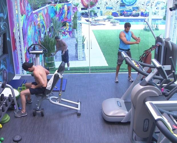 BBB às 18h06m do dia 02/02. (Foto: Big Brother Brasil)