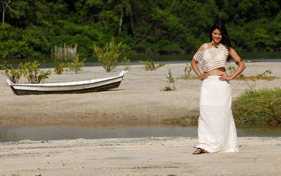 Carol Castro também gravou na Ilha de Marajó