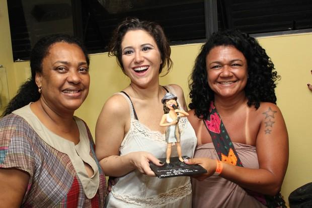 A produtora Ira Carvalho, Maria Rita e a artísta plástica Cláudia Pessoa em Salvador, na Bahia (Foto: Uran Rodrigues/ Divulgação)