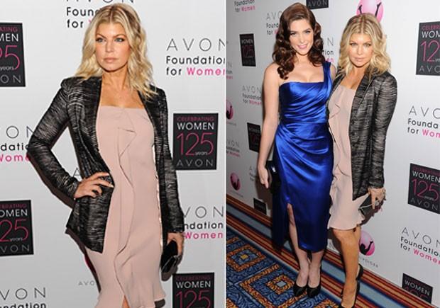 Ashley Greene e Fergie na final do concurso de novos talentos em Nova York, nos Estados Unidos (Foto: Getty Images/ Agência)