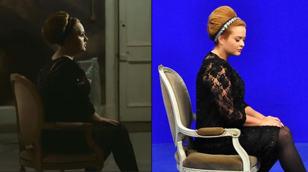 Adele x Geisy Arruda (Foto: Reprodução e Eduardo Mate/Divulgação)